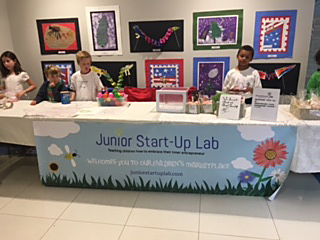 Junior Start-Up Lab Table Display with kids