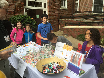 Junior Start-Up Kids at Selling Table